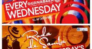 MARCH Treats @ Guanabara WEDNESDAYS - RODA DE SAMBA £5 AFTER 9PM