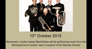 Mardi Brass in aid of the Macular Society