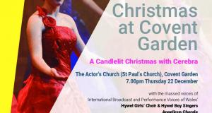 Hywel Girls and Boys Christmas at Covent Garden in aid of CEREBRA